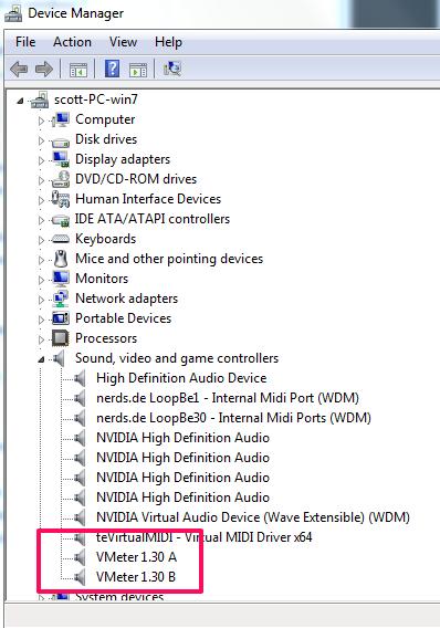 windows default midi device